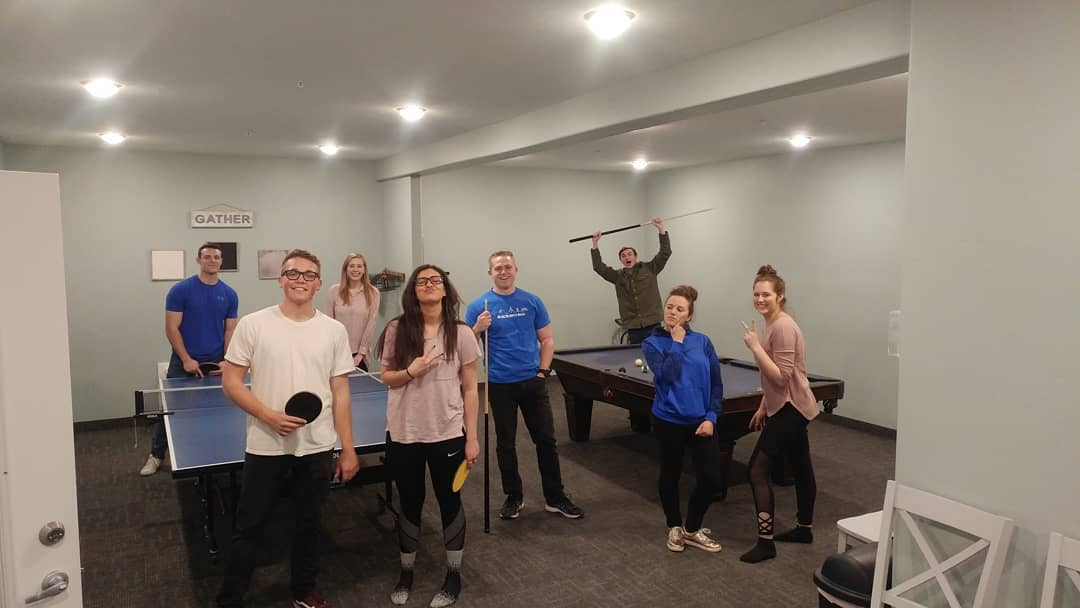 Ping pong and pool tournaments
